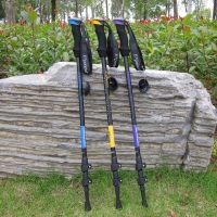 Genuine Kabuda Outdoor Alpenstock Ultra-Light Outer Lock 7075 Material Walking Stick Cane Walking Stick