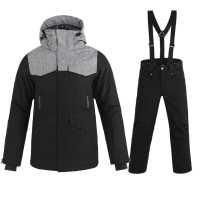 Ski Sets Male New Brand Double Board Snowboard Jacket+Pants Adult Snow Clothing Waterproof Warm Resist -30 Degree Men's Ski Suit