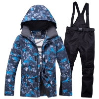 NEW Ski Suit Men Sets Super Warm Thicken Waterproof Windproof Winter Snow Suits Male Sets Winter Skiing And Snowboarding Jacket