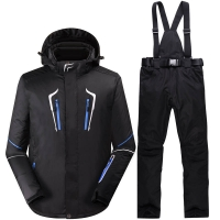 Winter Men High Quality Snow Wear Ski Suit Skiing Jacket And Pants For Male Warm Waterproof Windproof Snowboarding Coat Sets