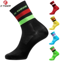 X-TIGER 4 Pairs/lot Professional Cycling Socks Men Women Road Bicycle Socks Outdoor Brand Racing Bike Compression Sport Socks