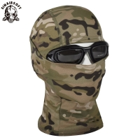 SINAIRSOFT Breathable Chiefs Rattlesnake Cam Tactical Mask Airsoft Paintball Full Face Mask Motorcycle Hunting Caps LY1300