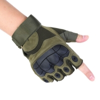 Tactical Fingerless Gloves Military Army Shooting Bicycle Paintball Airsoft Carbon Hard Knuckle Half Finger Gloves 3 Colors