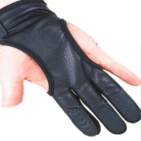 Mounchain one piece Professional Bow Shooting  Leather 3-Fingered Gloves Protective Hand Guard for hunting