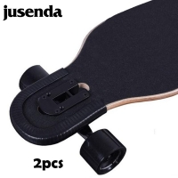 2 Pcs U Shape Skateboard Bumper Anti-collision Strip Skateboard Protection Cover Rail Universal For Longboard And Double Rocker