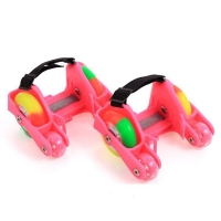 1 Pair Children Kids Flashing Roller Shoes Skates 4 Fire Wheels Shoes Roller Sport NEW Adjustable Small Motor Flash