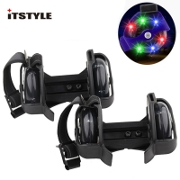 ITSTYLE Colorful Flashing Roller Whirlwind Pulley Flash Wheels Heel Roller Adjustable Simply Roller Skating Shoes for kids