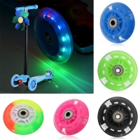 80Mm Led Flashing Wheel Mini Or Maxi Micro Scooter Flashing Lights Back Rear Kid Scooter accessories Toy Gift