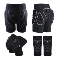 WOSAWE Hip Butt Protective Short Pad Ski Skate Snowboard Skiing Shorts Roller Padded Protection Gear Racing Body Safety Shorts