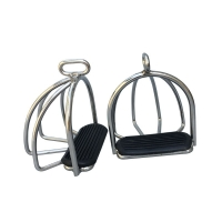 Stainless Steel  Safety Stirrups With Cage Saddle Iron  Horse  Equipment Horse Product Knight Equipent