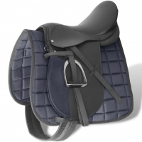 5 in 1 Saddlery Horse Riding Saddle Cow Leather Integrated Synthetic Saddle Tourist Saddle Full Leather Comfortable