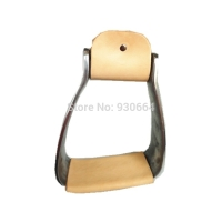 5 Inch Aluminum   Stirrups Wrapped Leather   Horse Products Horse Tack F1021
