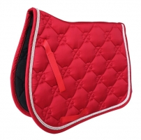 Free shipping horse saddle pad,T/C cotton,5MM foam &300 gram polyester.Double rope piping.velcro handstrap(PD025)