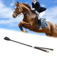 54cm Leather riding horsewhip role plays horsewhip Equestrian Horseback Racing Trail Stage Training Performance Show