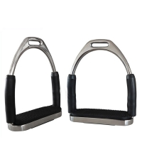 1Pair/2Pcs Stirrups Saddle Pedals Safety Flexible Anti Slip Racing Stainless Steel Stirrups Horse Riding Device