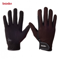 Boodun Professional Horse Riding Gloves for Men Women Wear-resistant Antiskid Equestrian Gloves Horse Racing Gloves Equipment