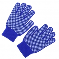 Outdoor Horse Riding Pimple Palm Gloves Hands Protection Free Size Blue
