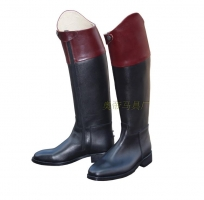 Aoud Horse Riding Boots Full Leather Dressage Boots Equestrian Boots Flank Zipper Contrast Color Unisex Horse Riding Equipment