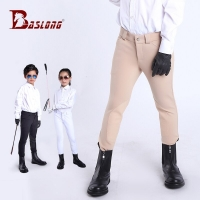 Children's equestrian trousers are elastic and breathable