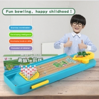 Mini Cartoon Children Toy Frog Bowling Table Set Shooting Puzzle Interactive Game Sports Party Entertainment Accessories