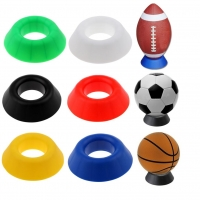 PP Ball Stand Basketball Football Soccer Rugby Display Holder Support Base Seat