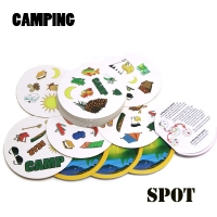 spot camping find double English version kids like it gifts for family home party card game, board game