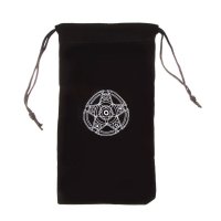 Velvet Pentagram Tarot Card Storage Bag Toy Jewelry  Mini Drawstring Package Board Game