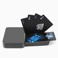 Creative Playing Cards Waterproof black Poker Collection Black Diamond Poker Card Hot Gift Standard Party Playing Cards with box