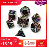 Chengshuo dnd dice metal rpg set polyhedral dungeons and dragon black table games Zinc alloy green digital d&d dices pattern d6