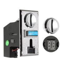 1 Set PC Plastic Electronic Advanced Front Entry CPU Coin Acceptor for A Variety of Coins For Coin Operated Games