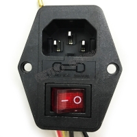 ON/OFF switch Socket with female plug for power supply cord Jamma arcade machine IO switch with Fuse