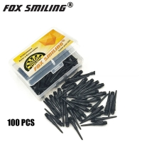Fox Smiling 100/50PCS Colorful 25mm 2BA Professional Nylon Soft Tip Darts And Electronic Points Accessories With 3PCS Flights