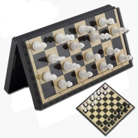 3 In 1 Foldable Magnetic Chess Board Set Outdoor Travel Chess Backgammon Toy Kids Intellectually Development Learn Chessmen Gift