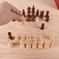 32Pcs/Set 64Cm Height Wooden Terra Cotta Figure Chess Set Entertainment Checkers Chess Traditional Games