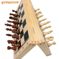 Hot Top Quality Wooden Folding Magnetic Chess Set Solid Wood Chessboard Magnetic Pieces Entertainment Board Games Children Gifts