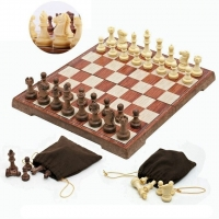 New Chess Folded Board 4 Size Magnetic Board Tournament Travel Portable Chess Set  International Magnetic Chess Set playing Gift