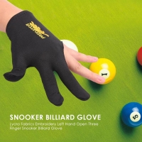 Snooker Billiard Cue Glove Lycra Fabrics Embroidery Left Hand Open Three Finger Glove Snooker Billiard Pool Fitness Accessories