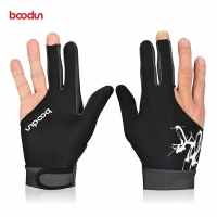Boodun 1PCS 3 Fingers Billiard Gloves Pool Snooker Glove for Men Women Fits Left Right Hand Billiard Shooters Snooker Gloves