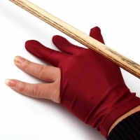 Spandex Snooker Billiard Cue Glove Pool Left Hand Open Three Finger Accessory for Unisex Women and Men 4 Colors 1Pcs