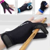 1 Piece Either Hands Billiard Pool Shooters 3 Fingers Gloves 4colors Billiard   Gloves Snooker Gloves Billiard Accessories