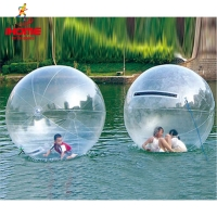 JIA INF 1.3-3m PVC Inflatable Water Walking Ball Wear-resistant Water Toys Dance Ball with Zipper for Swimming Pool Outdoor