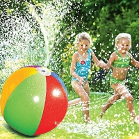 Kid Water Sports Funny Game Water Play Jet Ball Summer Outdoor Indoor Inflatable PVC Spray Beach Ball Party Lawn Game Toy Jet