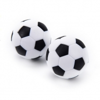 4 Pcs 32mm White Black Plastic Soccer Table Foosball Ball Football Mini Ball Soccer Round Indoor Games Machine Parts hot sale