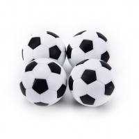 4 Pcs 32mm Table Football Ball White Black Plastic Soccer Football Mini Ball Soccer Round Indoor Games Machine Parts