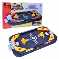 MagiDeal High Quality 2in 1 Desktop Puck Battle Kids Play Air Hockey Table Game Interactive Toy Gift Indoor Outdoor Play Games
