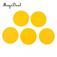 MagiDeal 5 Pieces 82mm Yellow Air Hockey Replacement Pucks for Game Tables, Accessories