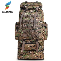 100L Large Capacity Outdoor Tactical Backpack Mountaineering  Camping Hiking Military Molle Water-repellent Tactical Bag