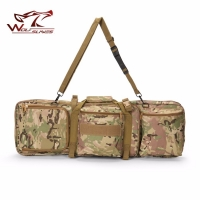 85CM Tactical Heavy Slip Carrying Dual Molle Rifle Case Gun Bag for M4, Hunting Airsoft Military Shoulder Pouch Fishing Backpack