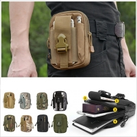 CQC Molle Tactical Waist Pouch Fanny Pack Bag Men's Outdoor Sports Running Belt Mobile Phone Holder Case EDC Hunting Bags
