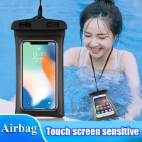 Universal 6.3 inch Airbag Floating Swimming Bags Waterproof Touchscreen Phone Bag Underwater Pouch Phone Case For Beach Diving